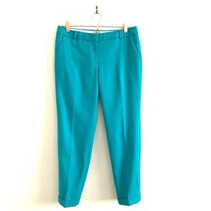 J. Crew Cafe Cropped Wool Pants Capri Teal